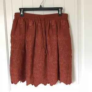 New w/Tags Burnt Orange Drawstring Skirt by Loft